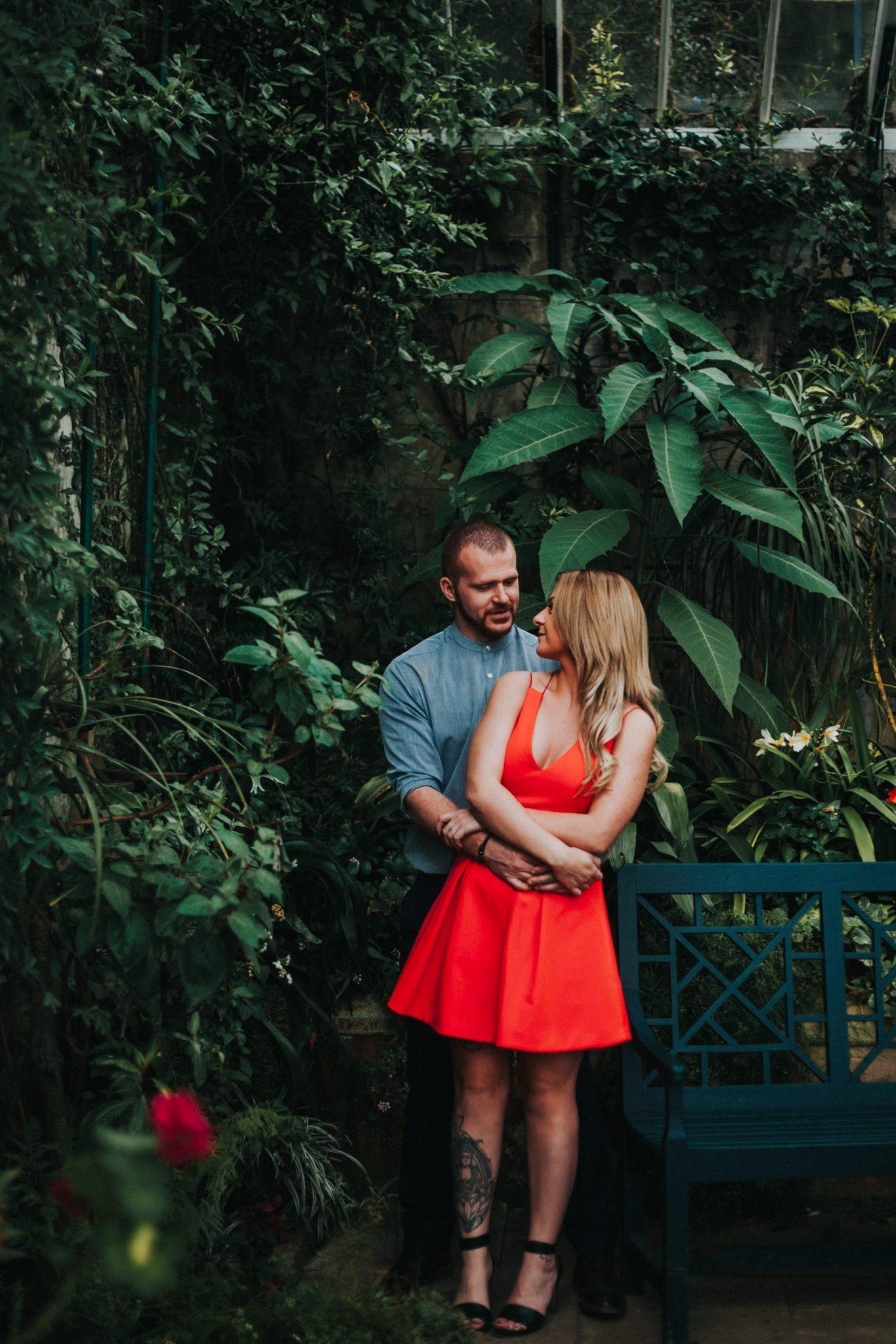 Engagement Photography Newcastle Upon Tyne - Pre-Wedding Session at Wallington Hall Greenhouse