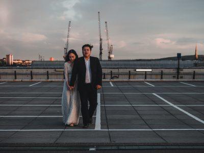 Rooftop city wedding - Newcastle Wedding Photographers