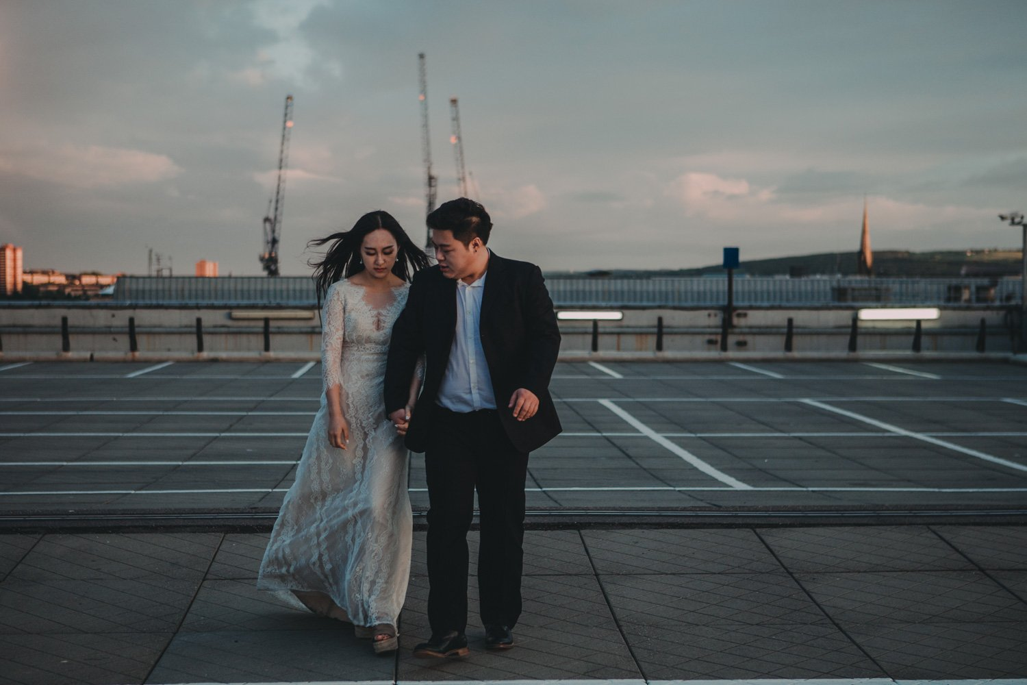 Rooftop city wedding - Newcastle Wedding Photographers