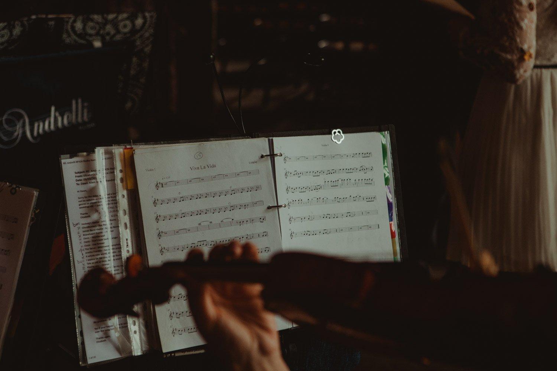 Healey Barn Wedding - string quartet playing viva la vida
