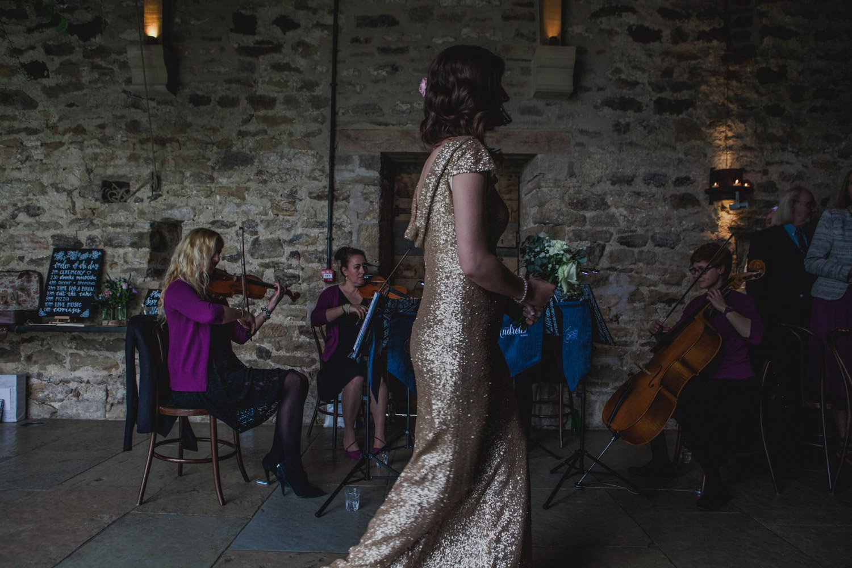 Healey Barn Wedding - Bridesmaid entrance