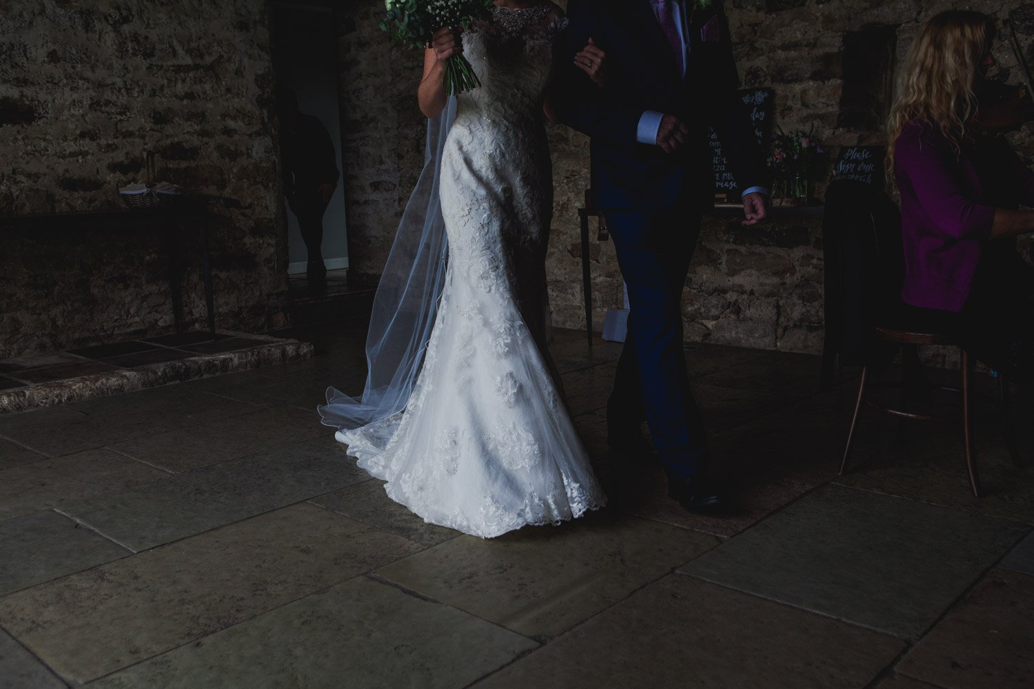 Healey Barn Wedding - Bride entrance