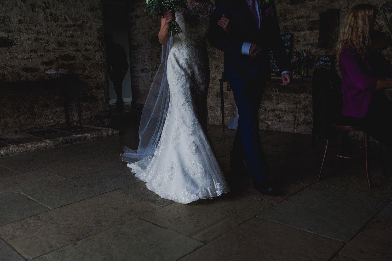 Healey Barn Wedding - Bride entrance