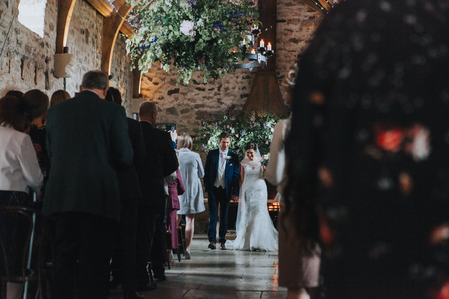 Healey Barn Wedding - Bride and Groom exited the ceremony