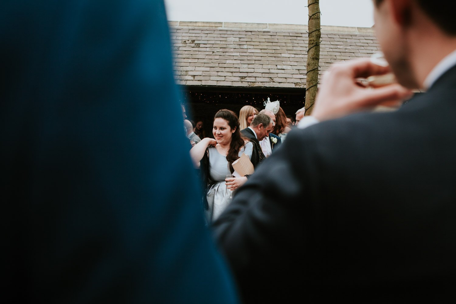 Healey Barn Wedding - guests ready to throw confetti