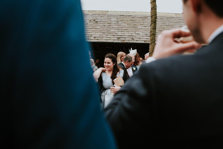 Healey Barn Wedding - guests ready to throw confetti