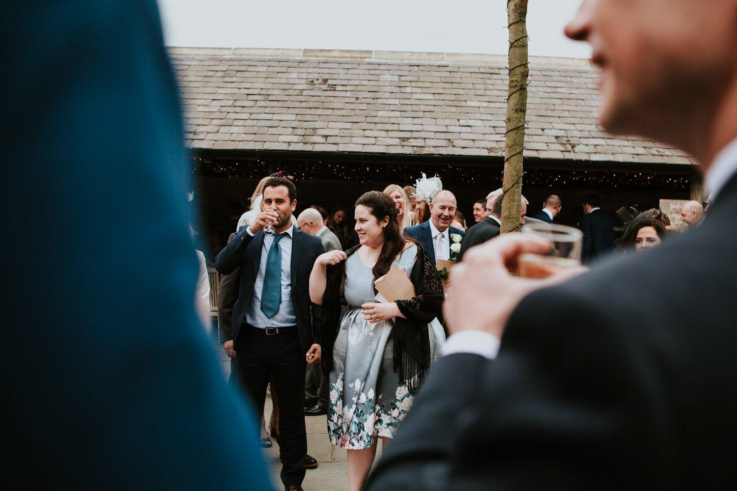 Healey Barn Wedding - guest ready to throw confetti