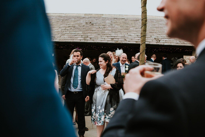 Healey Barn Wedding - guest ready to throw confetti