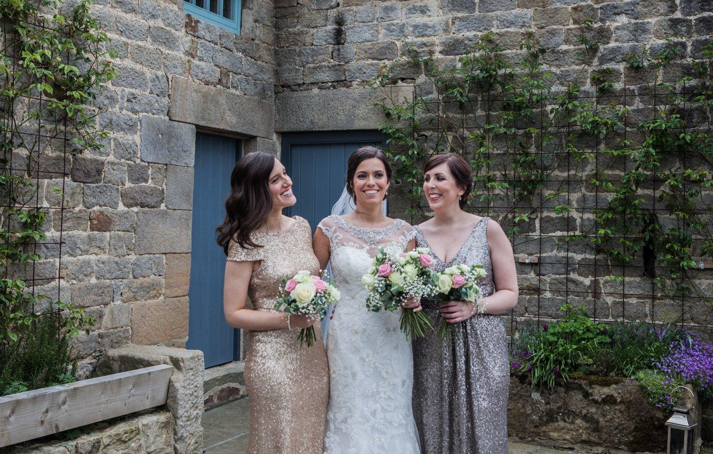 Healey Barn Wedding - Bride and bridesmaids