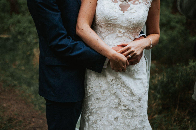 Healey Barn Wedding - Bride and Groom Portraits in the woods