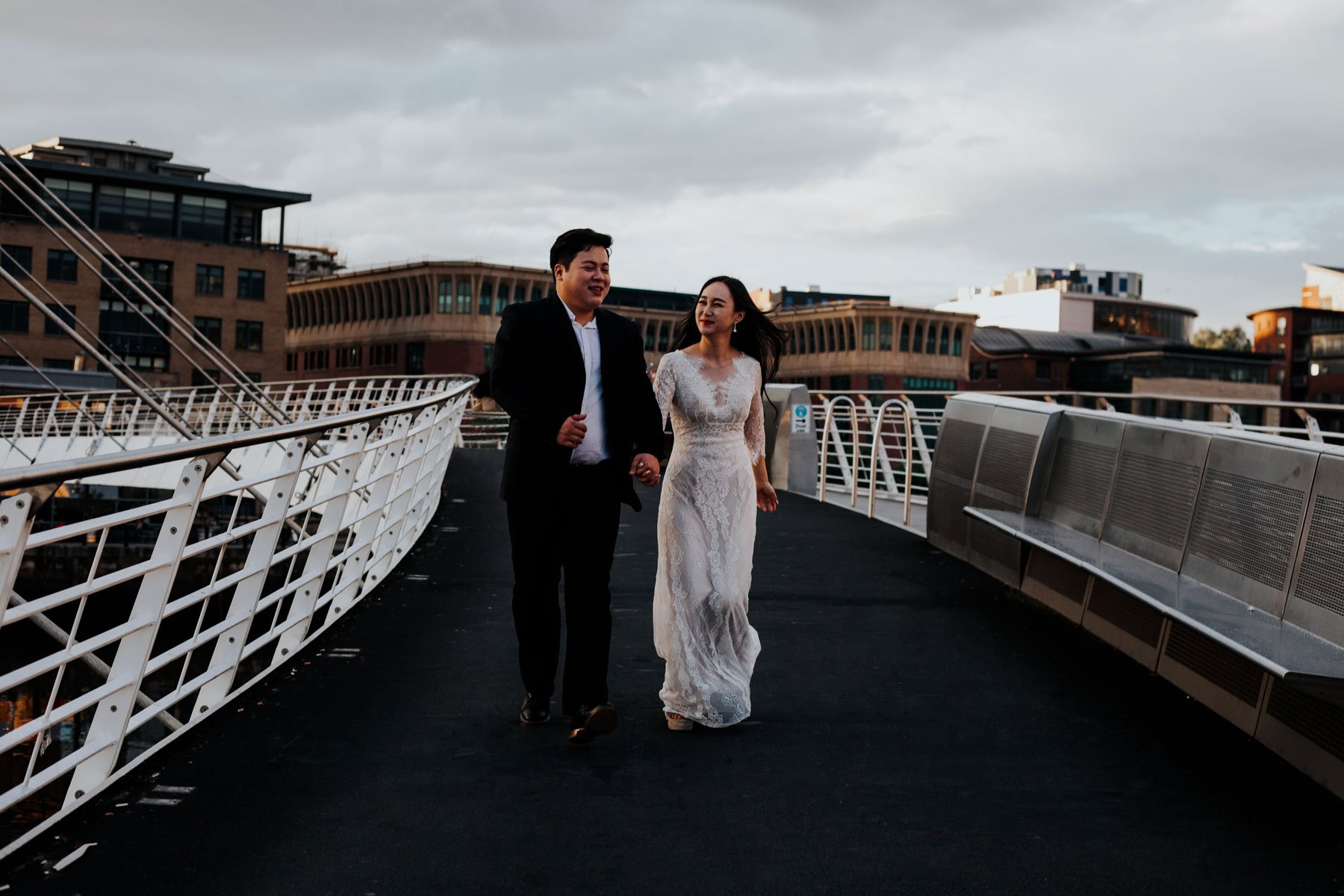 Newcastle City Wedding - The millennium bridge