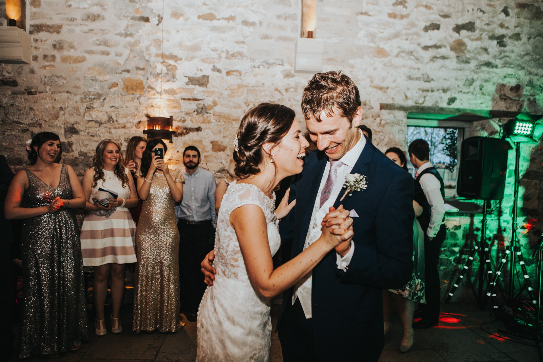 Healey Barn Wedding Photographer - Bride and Groom's first dance