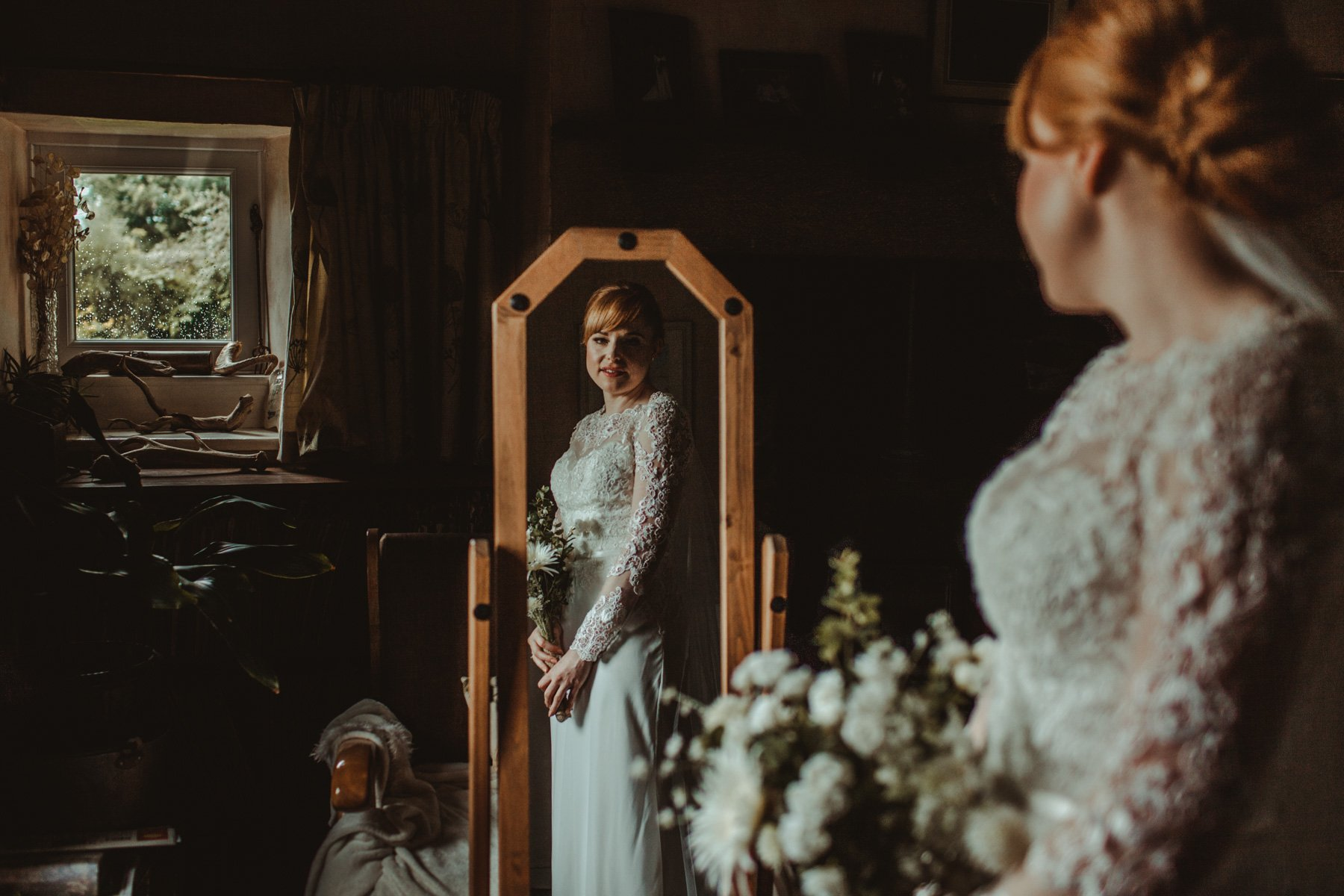 North East Wedding Photographers - Bridal Prep Vintage Village Hall Wedding