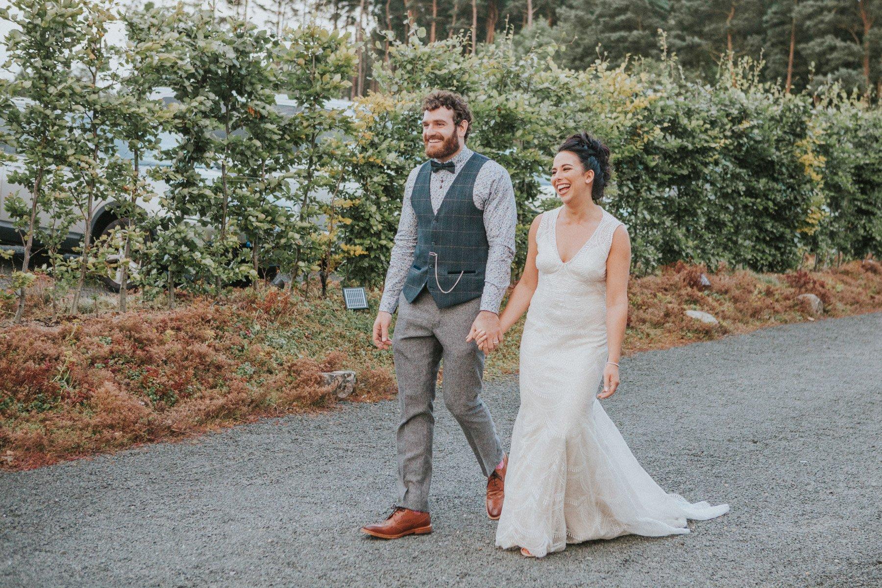 Healey Barn Wedding - Couple portraits in the courtyard