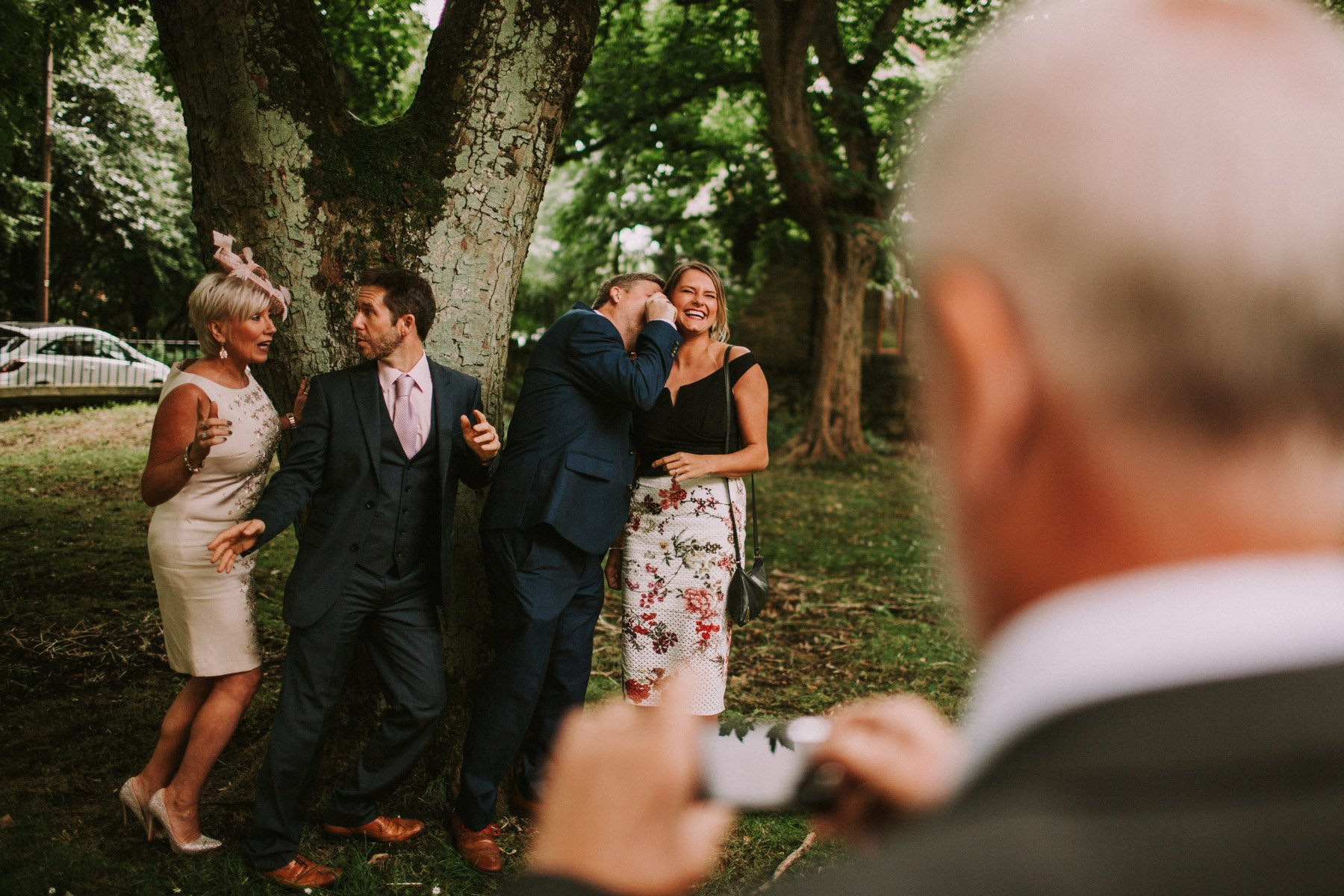 summerhill bowling club wedding - funny formal photograph