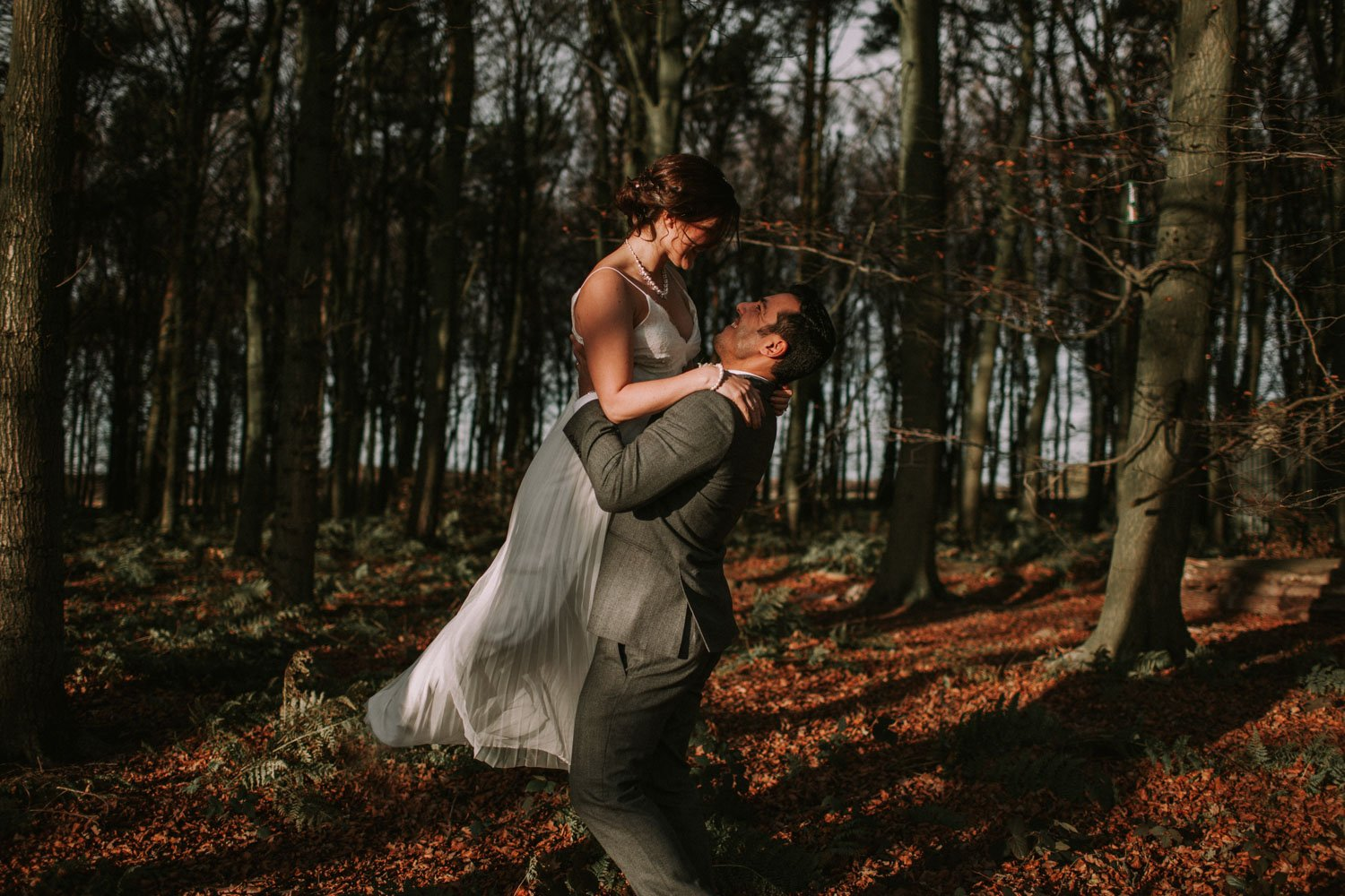 Woodland Newlywed Portraits- North East Wedding Photographer