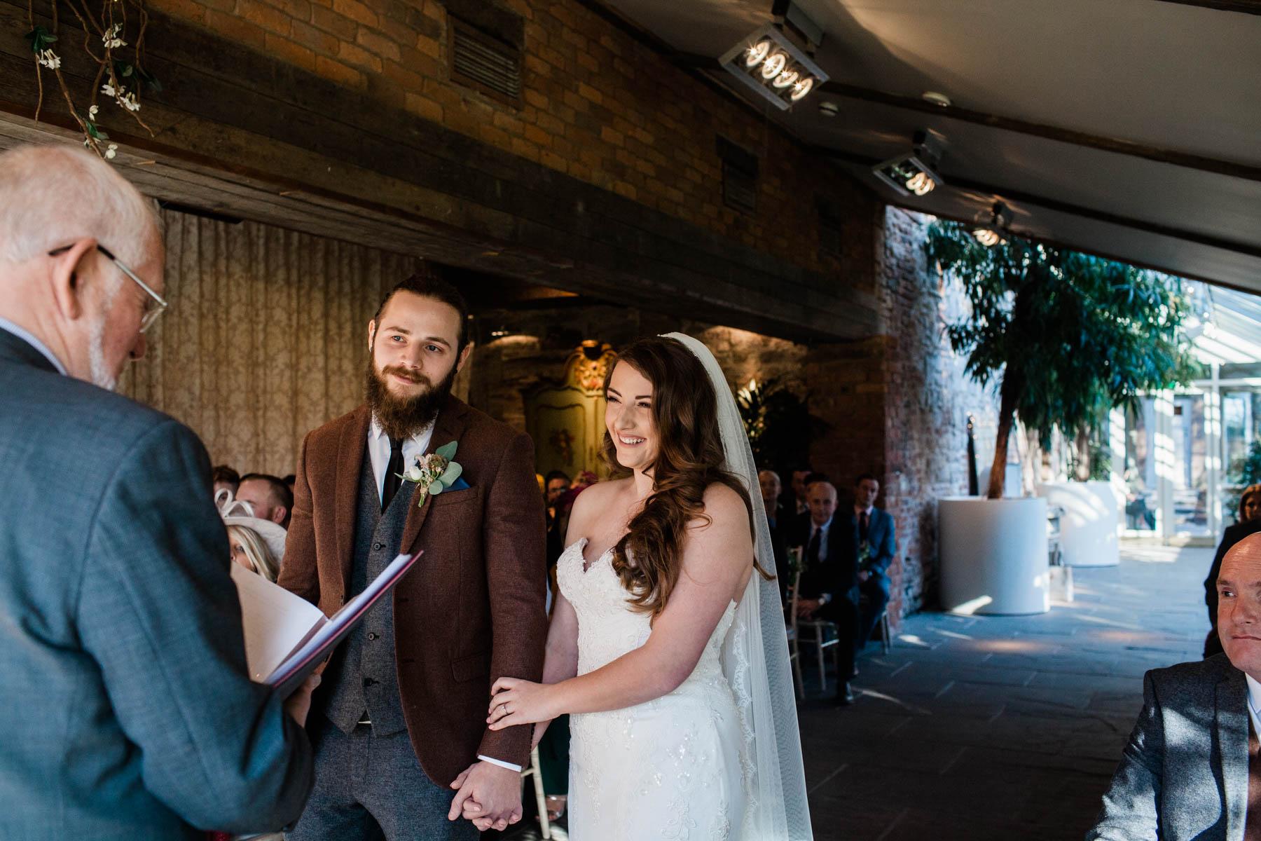 newton hall weddings - Newcastle wedding photographer - vows