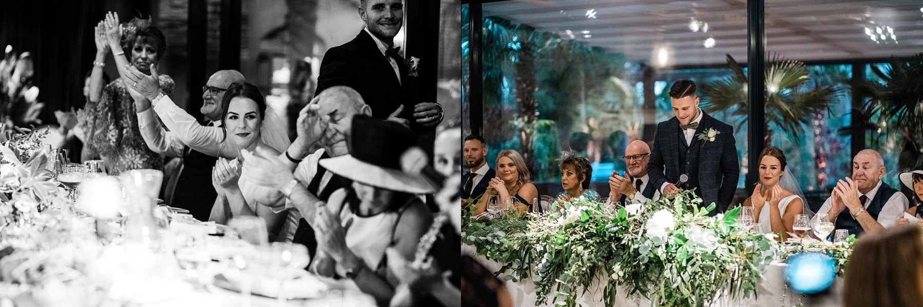 grandpa wiping tear Le petite Chateau wedding - Newcastle Wedding Photographer
