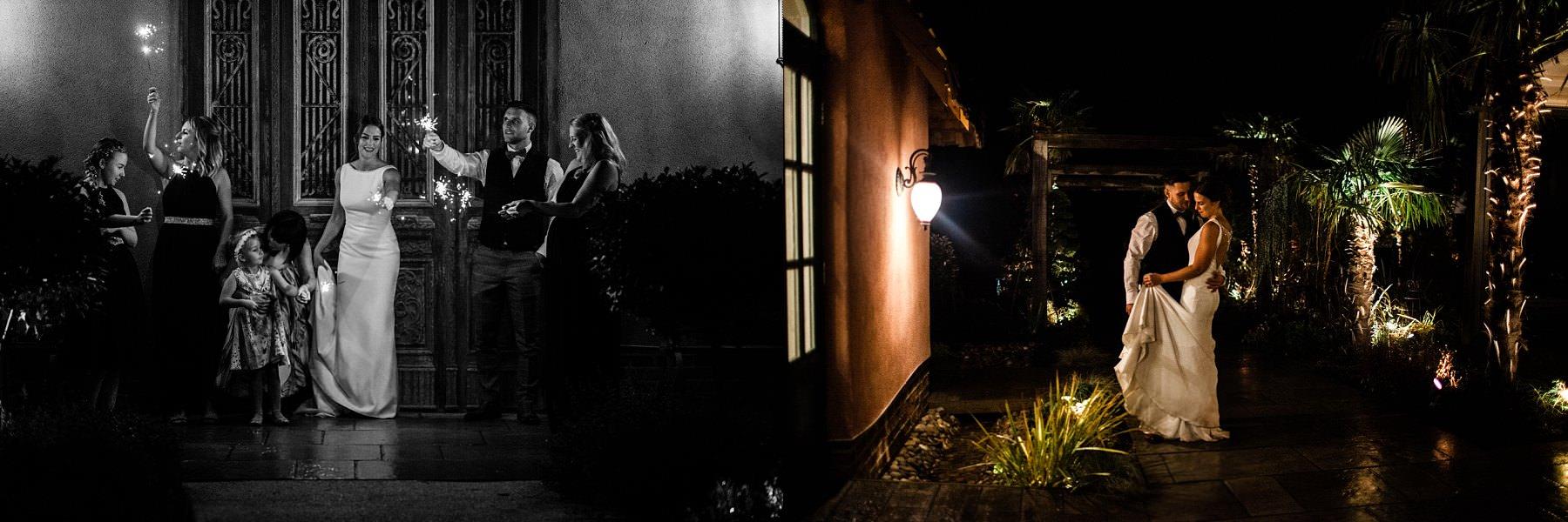 sparklers speeches Le petite Chateau wedding - Newcastle Wedding Photographer