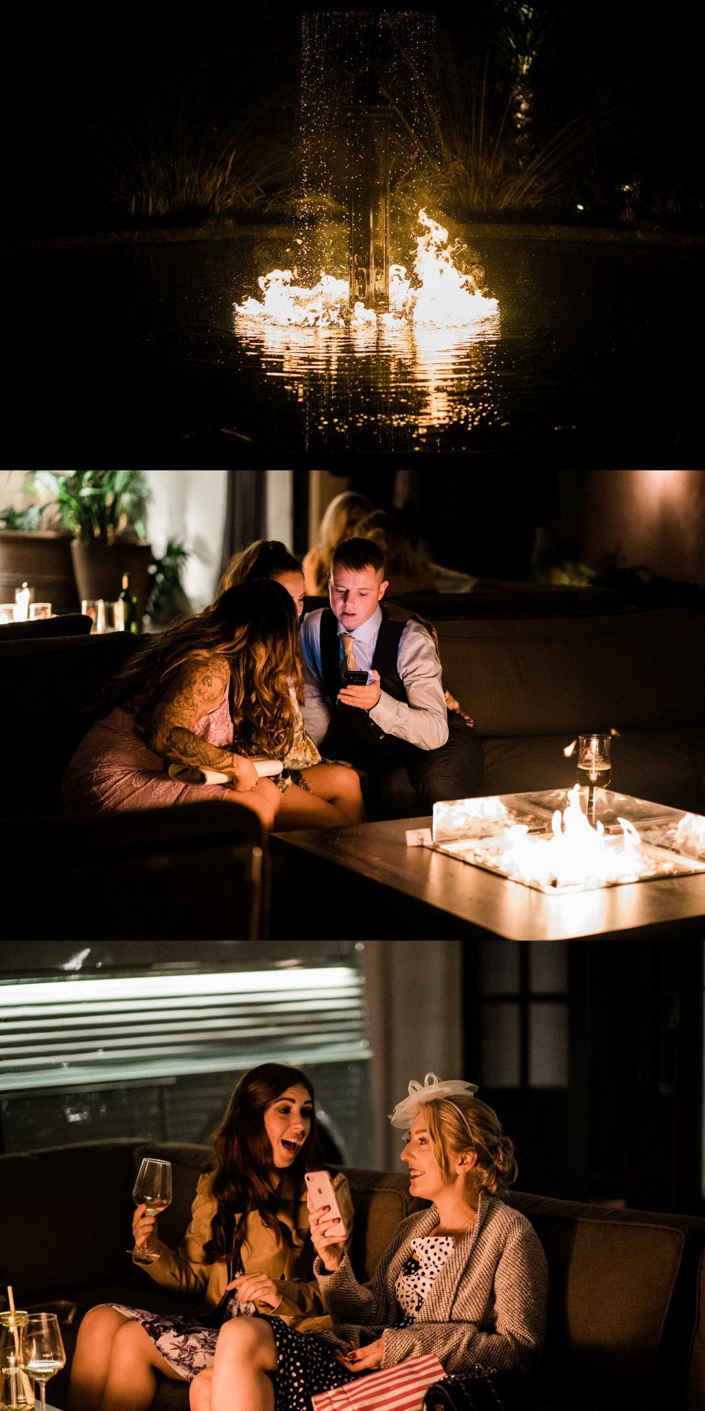 fire pits speeches Le petite Chateau wedding - Newcastle Wedding Photographer