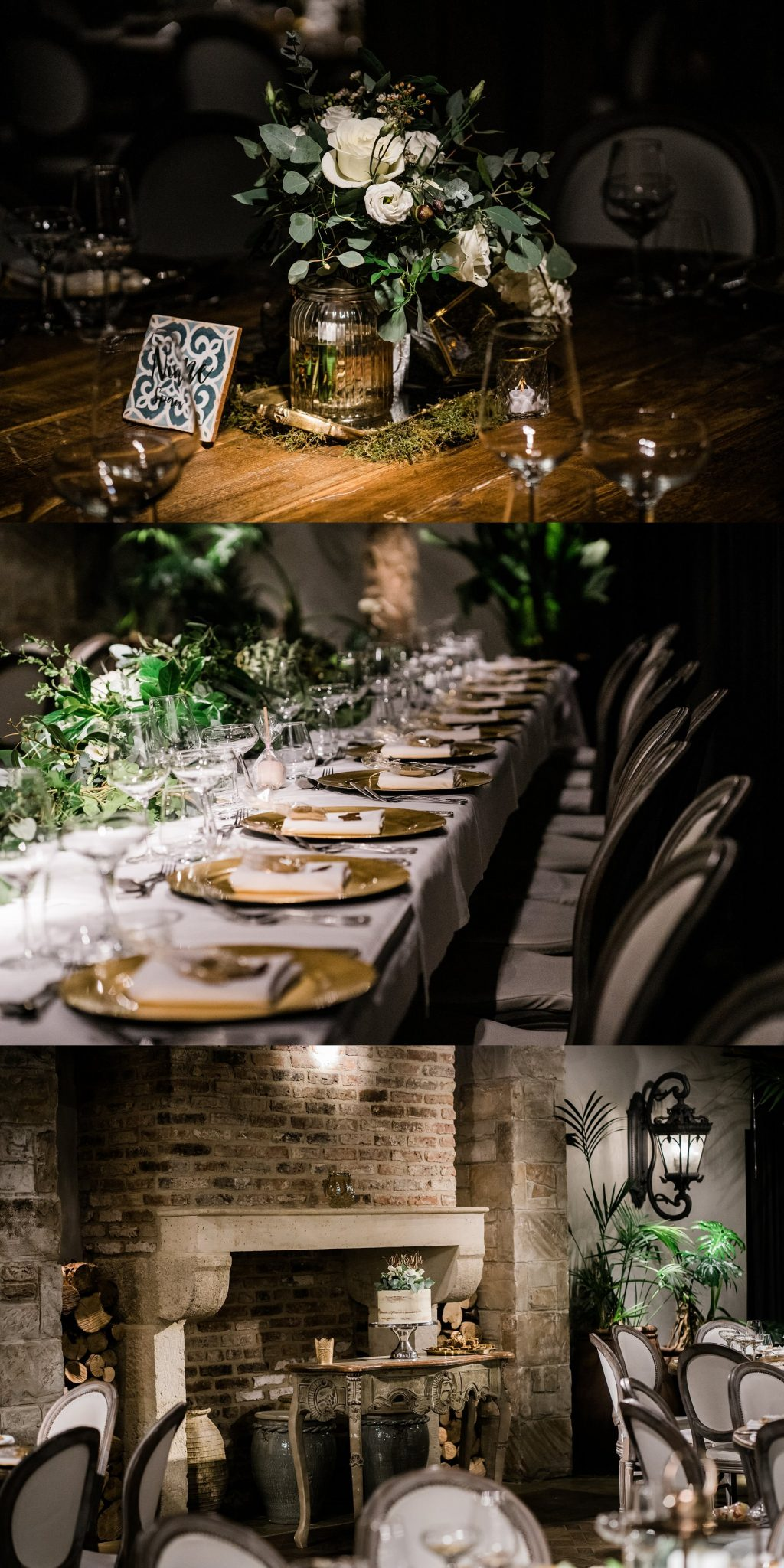 table decor Le petite Chateau wedding - Newcastle Wedding Photographer