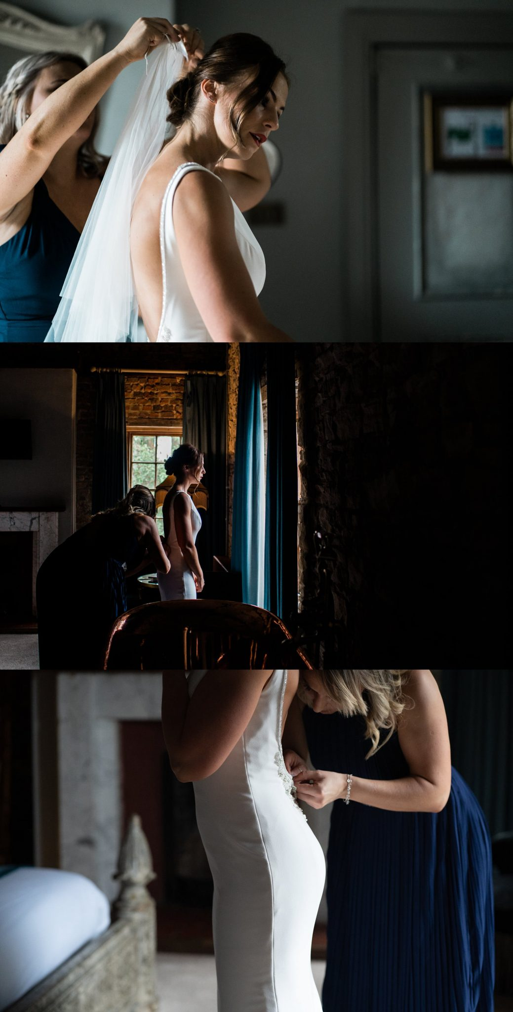 bridal portraits - Le petite Chateau wedding - North East Wedding Photographer