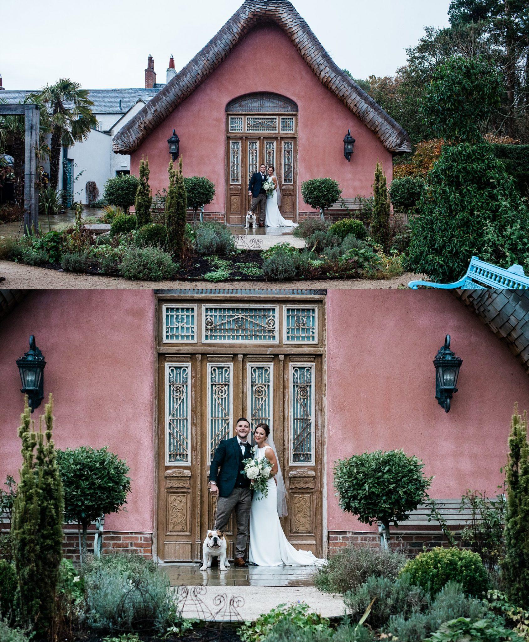 Bride & Groom Portraits Le petite Chateau wedding - Newcastle Wedding Photographer