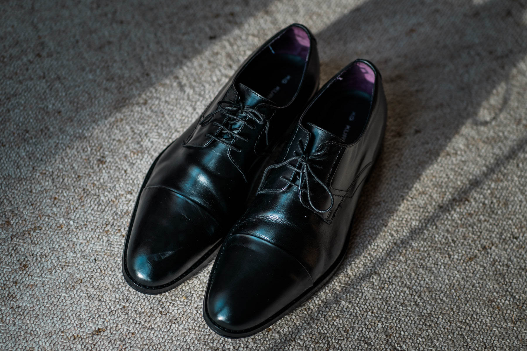Eshott Hall Wedding Photographer | Grooms shoes