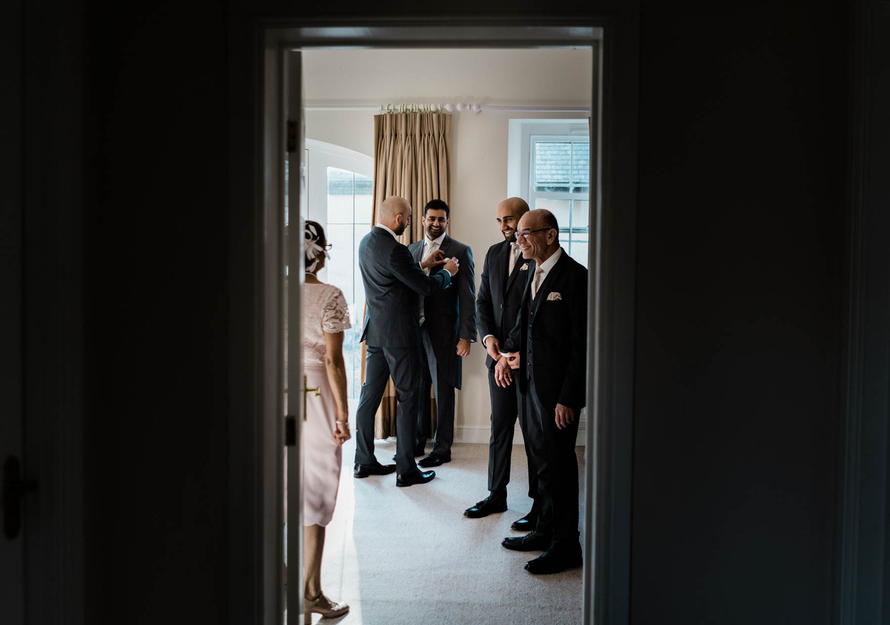Eshott Hall Wedding Photographer | groom prep