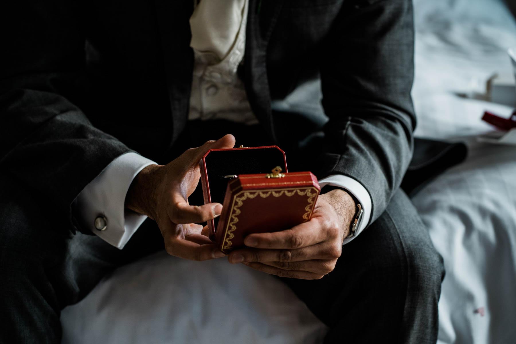 Eshott Hall Wedding Photographer   cartier cuff links wedding gift