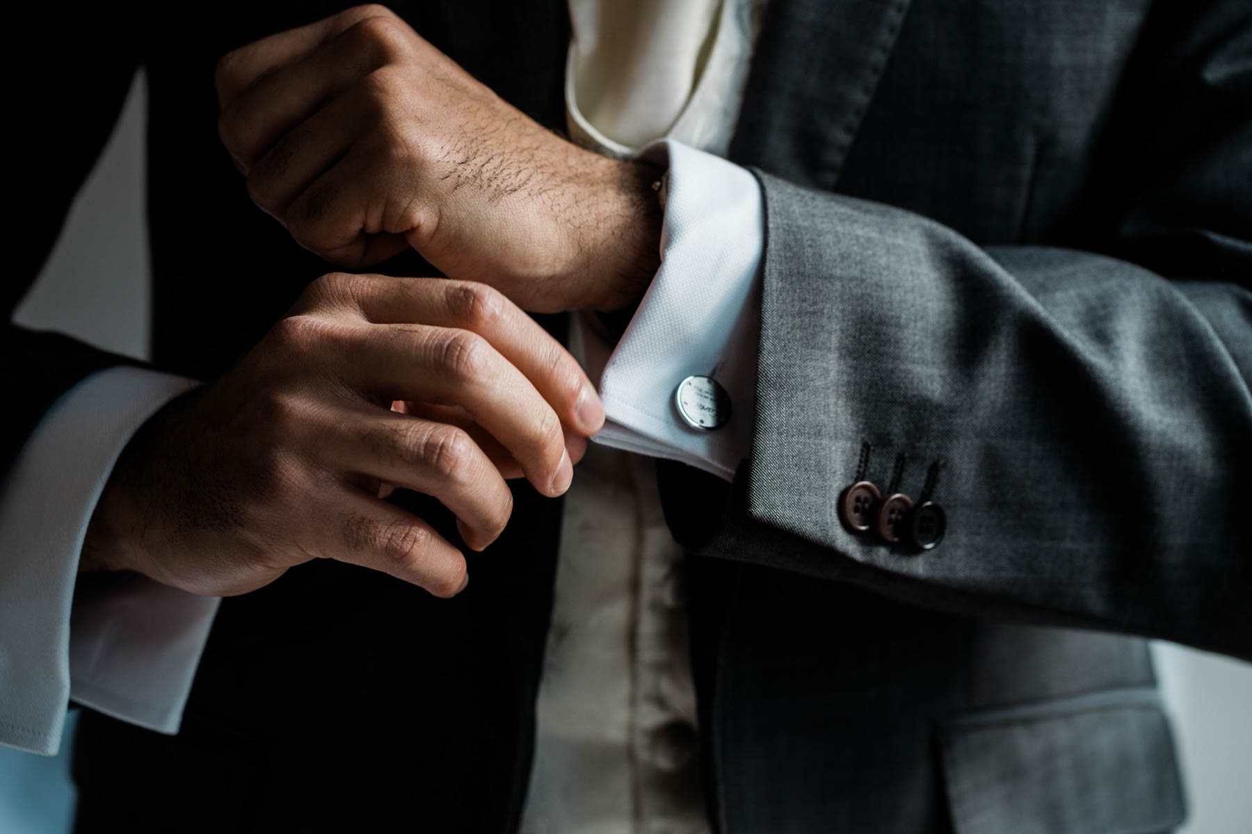 Eshott Hall Wedding Photographer | cartier cuff links wedding