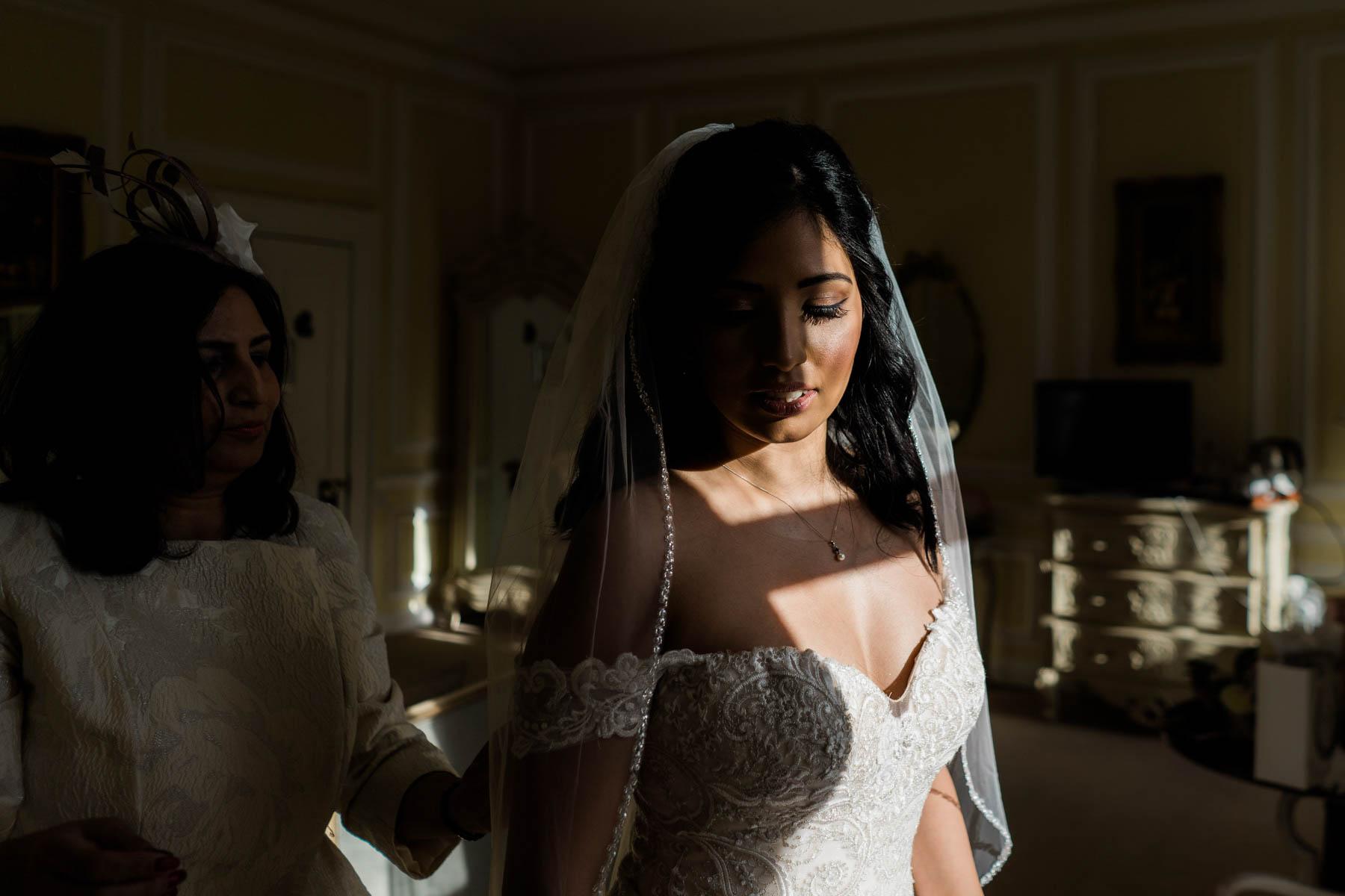 Eshott Hall Wedding Photographer   bridal prep