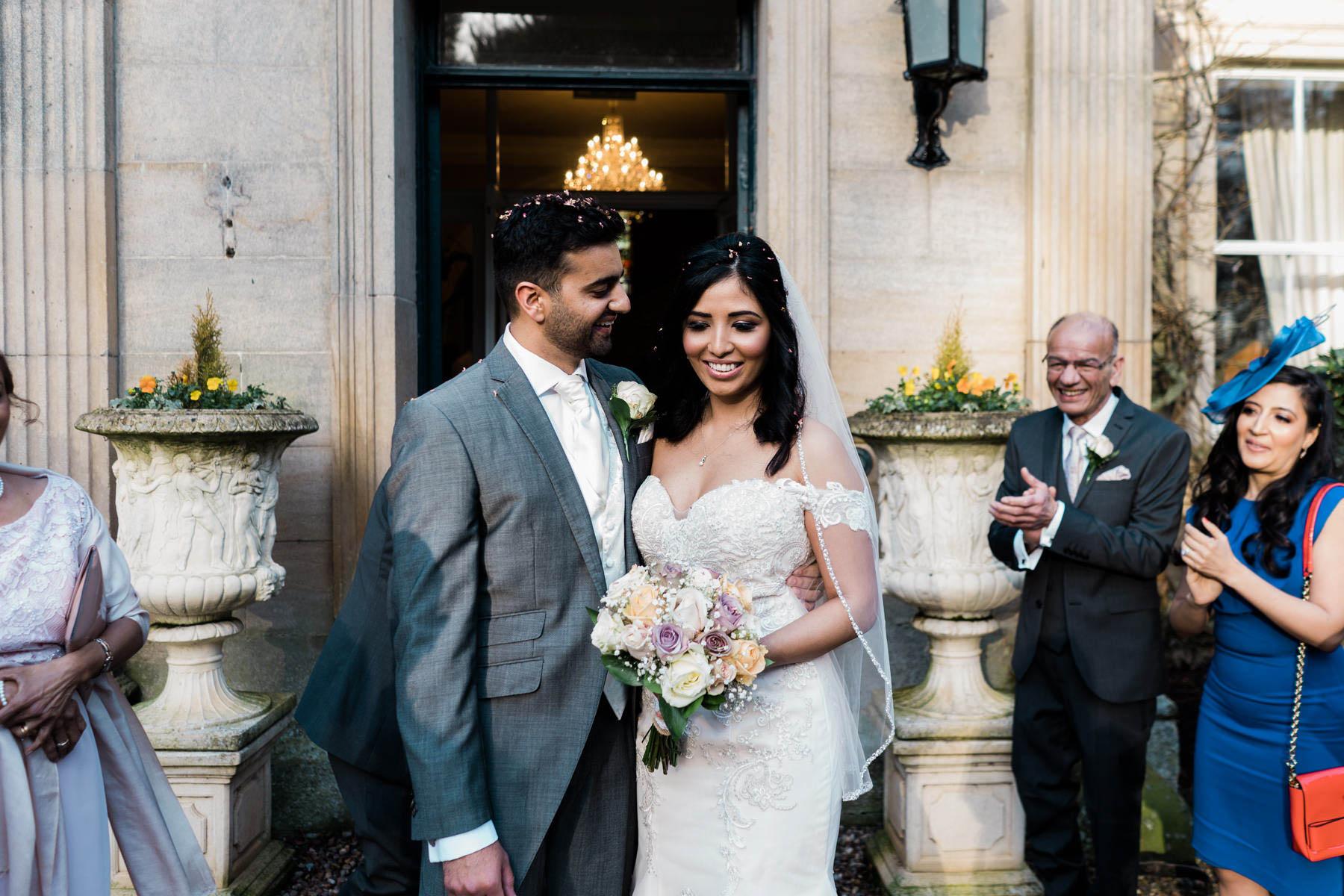 Eshott Hall Wedding Photographer   wedding confetti