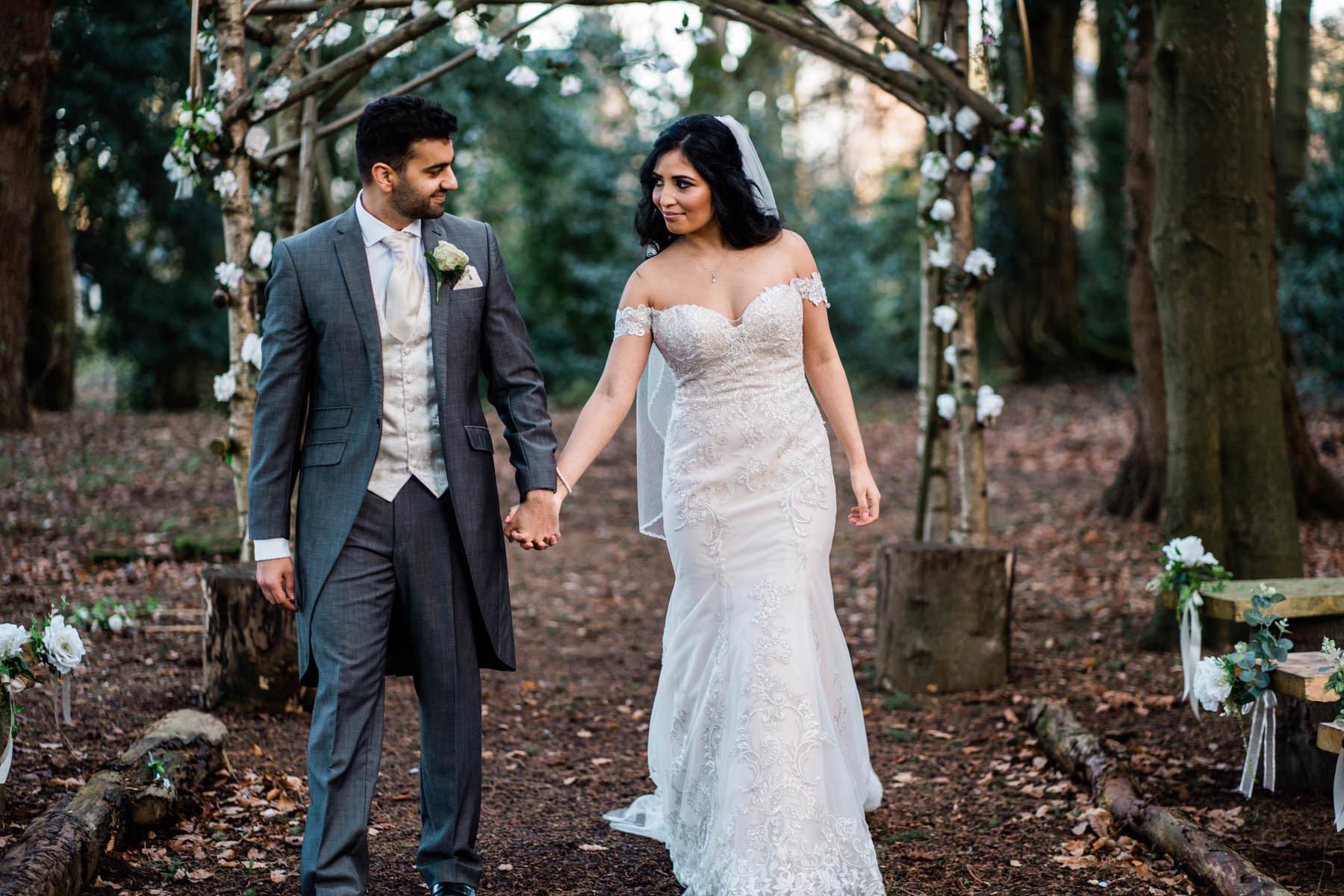 Eshott Hall Wedding Photographer   bride and groom wedding portraits