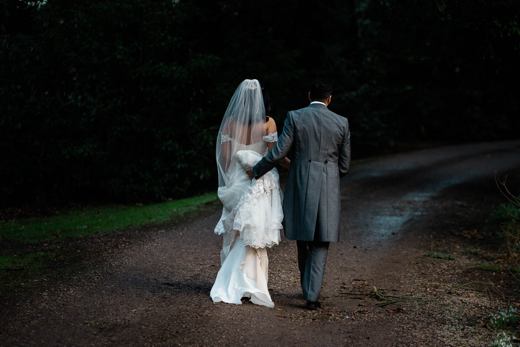 Eshott Hall Wedding Photographer | bride and groom wedding portraits