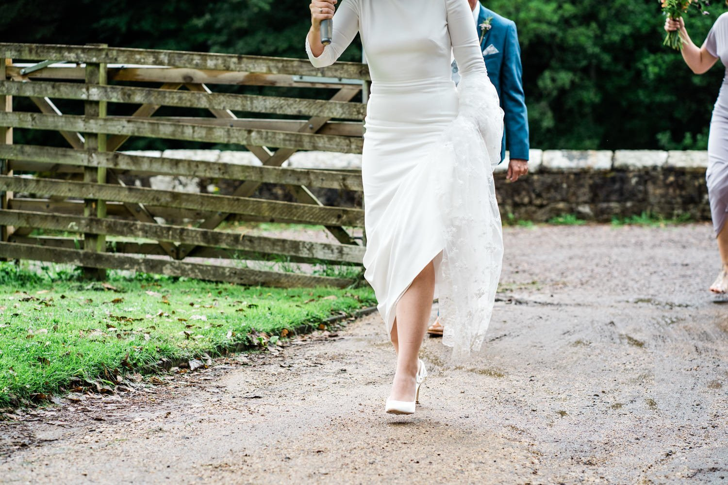 bride leaving for ceremony - london wedding photographer