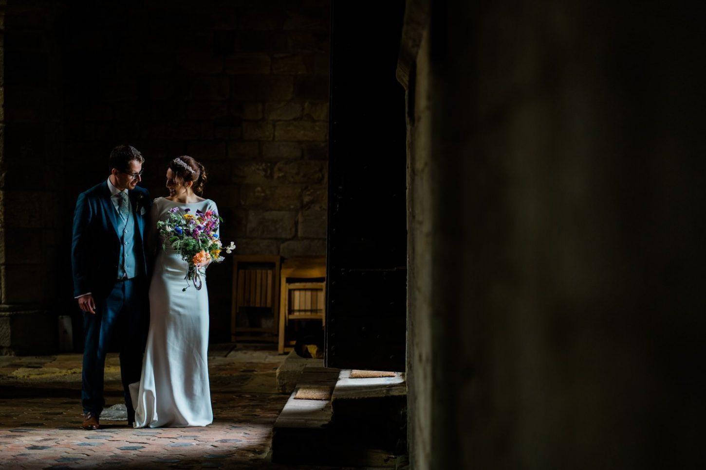 bride and groom portraits - london wedding photographers