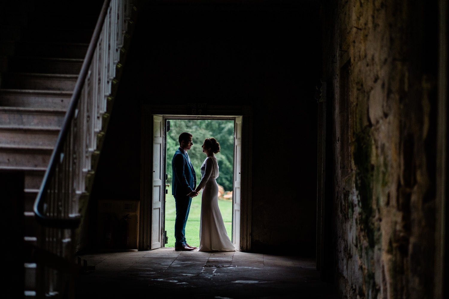 bride and groom portraits - london wedding photographers