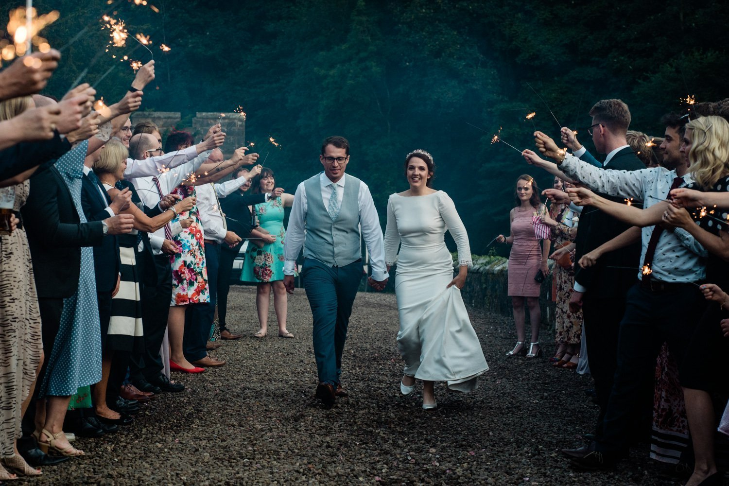 Sparkler exit - london wedding photographer