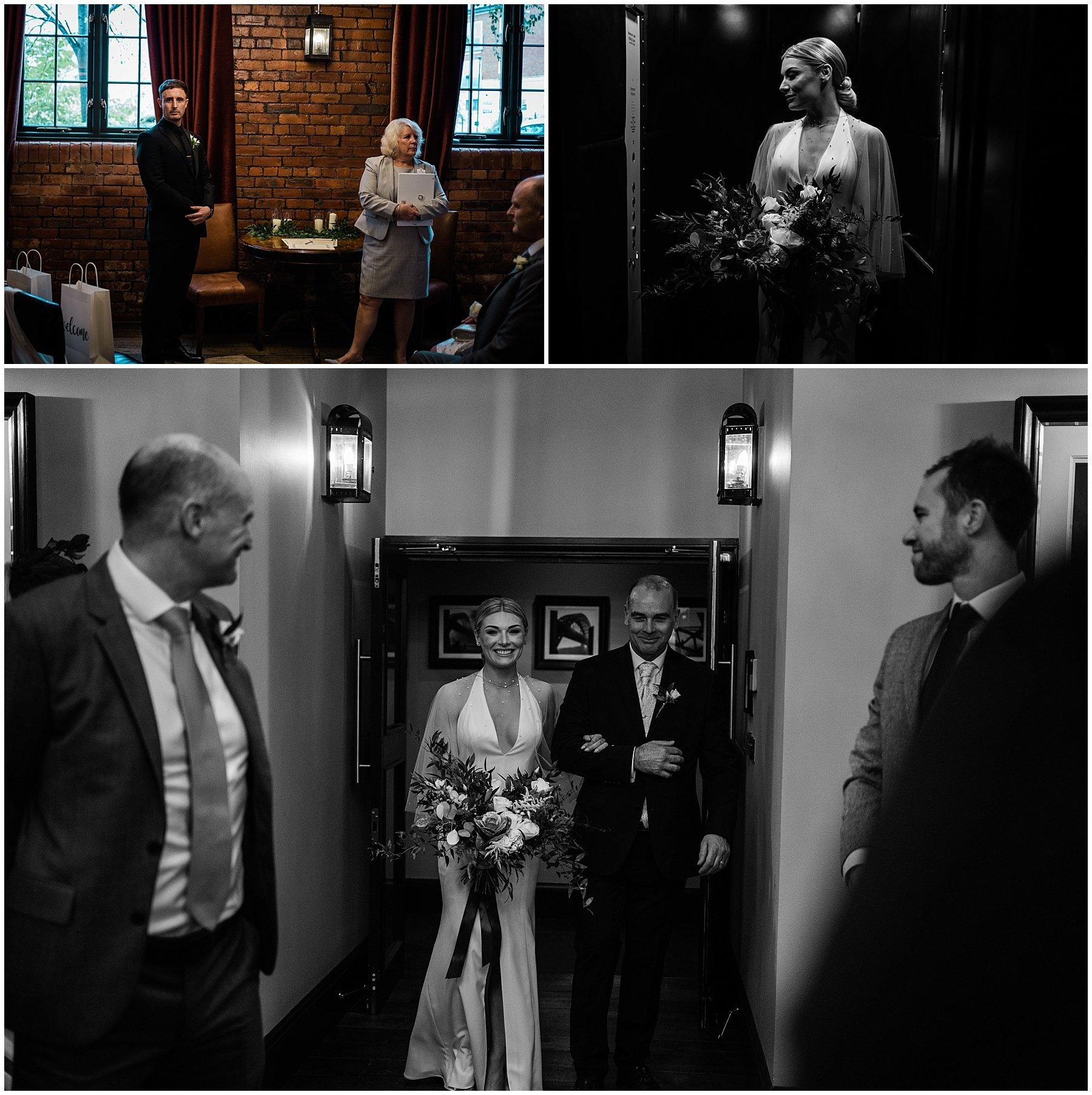 Hotel Du Vin Wedding | Newcastle Wedding photographers | ceremony entrance