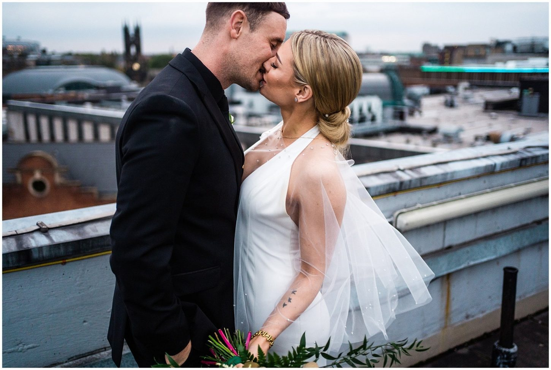 Wedding Photographer Newcastle | Couple portraits with Newcastle skyline