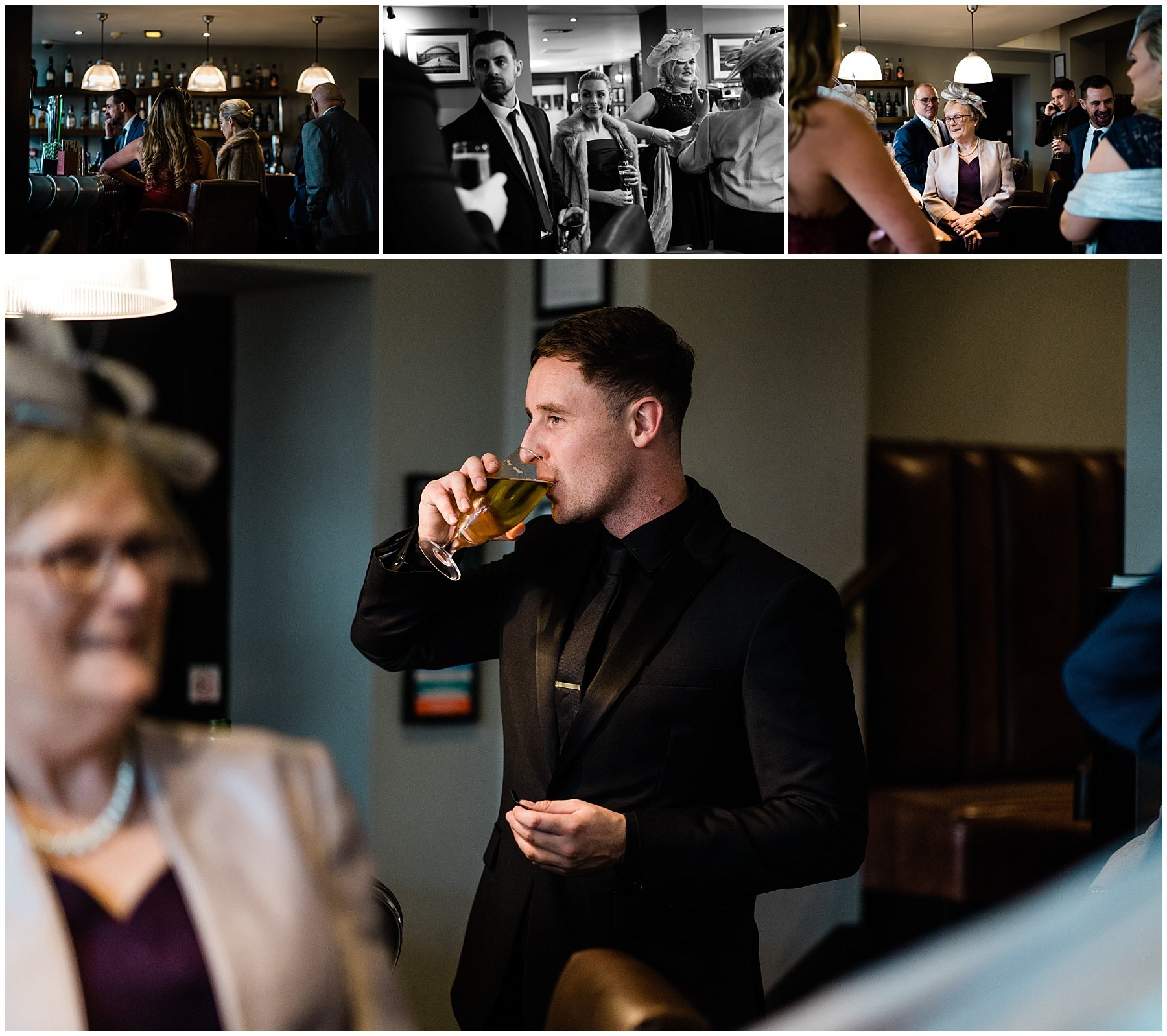 Hotel Du Vin Wedding | Newcastle Wedding photographers | guests arriving