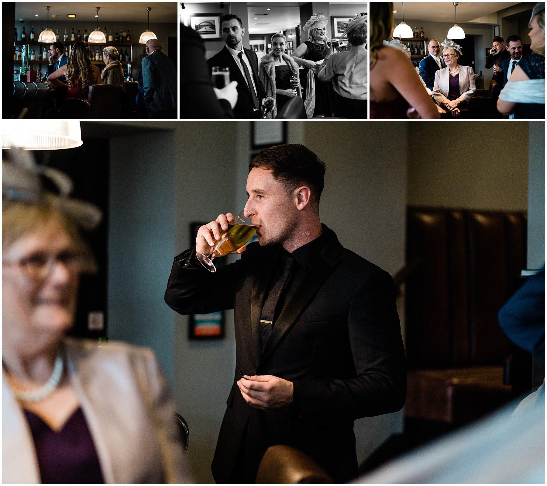 Hotel Du Vin Wedding | Newcastle Wedding photographers | guests arriving